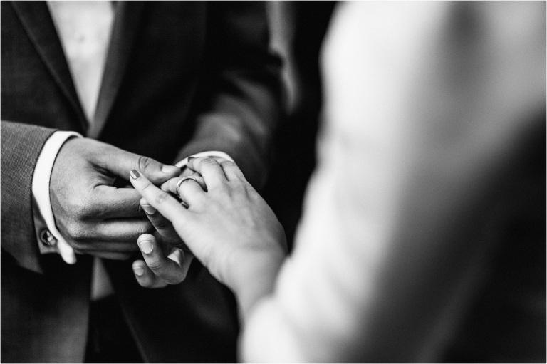 the ring exchange during a ceremony