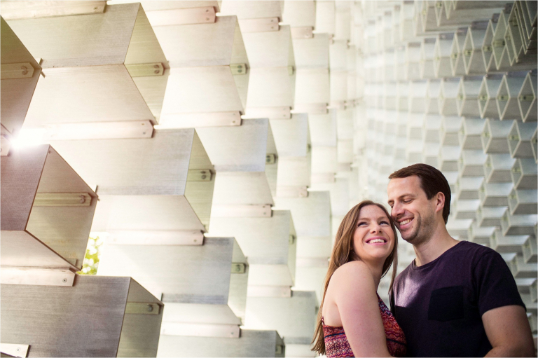 London engagement session with modern architecture