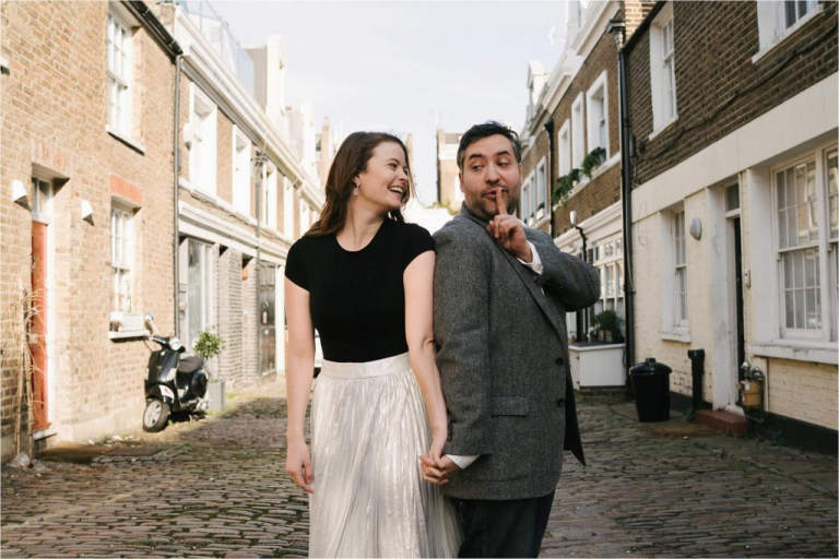 engagement photoshoot in Notting Hill