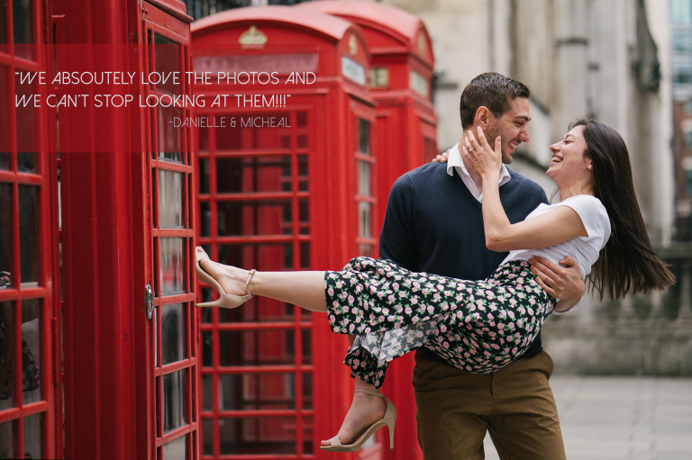 london engagement photography testimonial